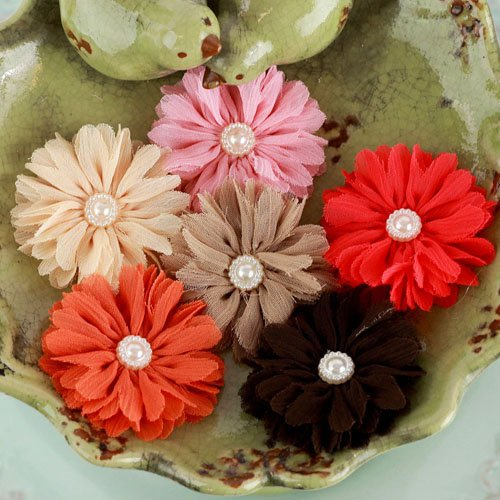 Prima - Cabaletta Collection - Fabric Flower Embellishments - Autumn