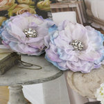 Prima - Bravo Collection - Fabric Flower Embellishments - Lilac