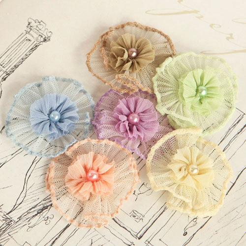 Prima - Vibrato Collection - Fabric Flower Embellishments - Mix 2