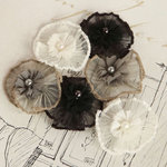 Prima - Vibrato Collection - Fabric Flower Embellishments - Mix 3
