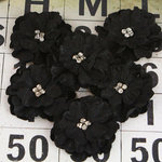 Prima - Pierott Collection - Flower Embellishments - Black