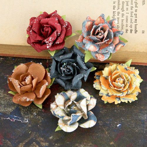 Prima - Timido Collection - Flower Embellishments - Craftsman