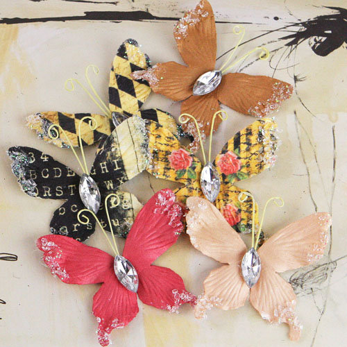 Prima - Papillons Collection - Butterfly Embellishments - Romance Novel