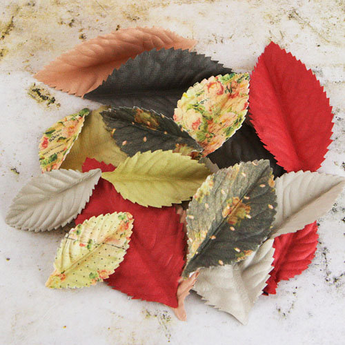 Prima - Plume Collection - Leaves Embellishments - Tea-Thyme
