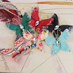 Prima - Papillons Collection - Butterfly Embellishments - Rosarian