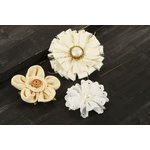 Prima - Au Naturale Collection - Fabric and Paper Flower Embellishments - Mix 4