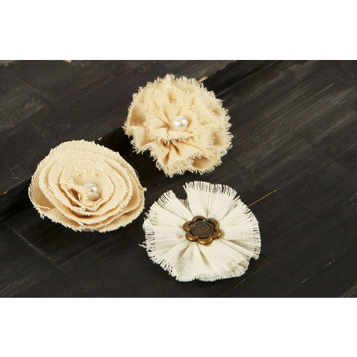 Prima - Au Naturale Collection - Fabric and Paper Flower Embellishments - Mix 5