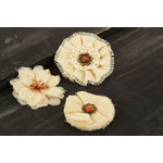 Prima - Au Naturale Collection - Fabric and Paper Flower Embellishments - Mix 7