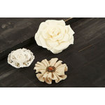Prima - Au Naturale Collection - Fabric and Paper Flower Embellishments - Mix 8