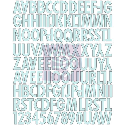 Prima - Divine Collection - Canvas Alphabet Stickers - Uppercase
