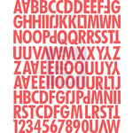 Prima - Lyric Collection - Canvas Alphabet Stickers - Uppercase