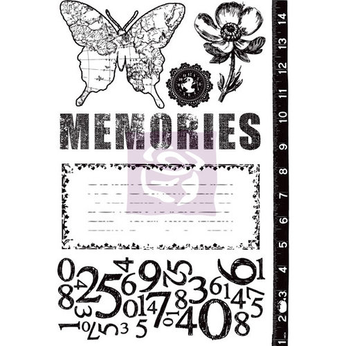 Prima - Engraver Collection - Cling Mounted Rubber Stamps