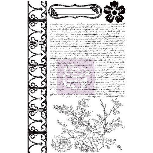 Prima - Hello Pastel Collection - Cling Mounted Rubber Stamps