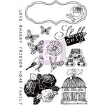 Prima - Lady Bird Collection - Cling Mounted Rubber Stamps