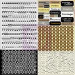 Prima - Sunrise Sunset Collection - Cardstock Stickers - Tiny Alphabets