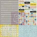 Prima - Divine Collection - Cardstock Stickers - Tiny Alphabets