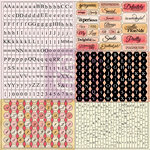 Prima - Lyric Collection - Cardstock Stickers - Tiny Alphabets