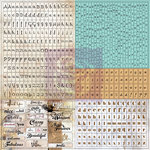 Prima - Lifetime Collection - Cardstock Stickers - Tiny Alphabets