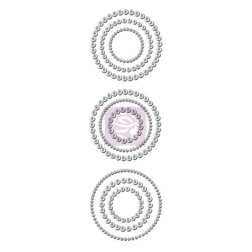 Prima - Say It In Crystals Collection - Self Adhesive Jewel Art - Bling - Circles - Clear