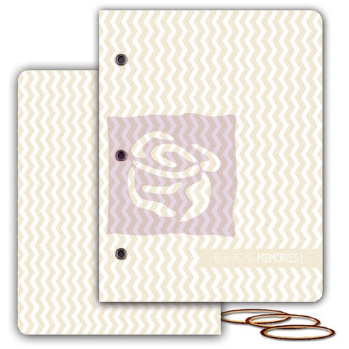 Prima - Mixed Media Album - Resist Canvas Book Covers - Large - One