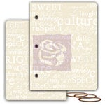 Prima - Mixed Media Album - Resist Canvas Book Covers - Large - Two