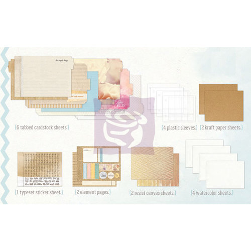 Prima - Mixed Media Album - Inner Pages Refill - Small