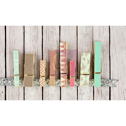 Prima - Fairy Rhymes Collection - Canvas Covered Wood Clips
