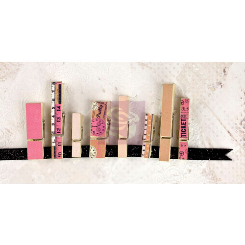 Prima - Lyric Collection - Canvas Covered Wood Clips