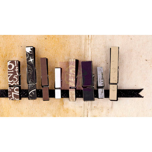 Prima - Engraver Collection - Canvas Covered Wood Clips