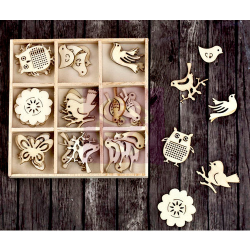 Prima - Wood Icons in a Box - Birds and Owls