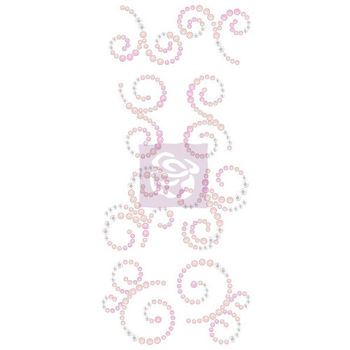 Prima - Say it In Crystals Collection - Bling - Mini Swirls - Hello Pastel