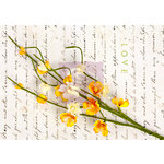 Prima - Divine Collection - Flower Embellishments - Solid Flower Vine - Yellow