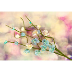 Prima - Hello Pastel Collection - Flower Embellishments - Solid Flower Vine - Turquoise