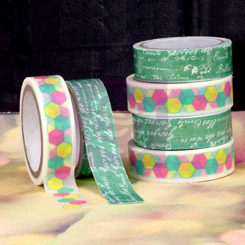 Prima - Hello Pastel Collection - Washi and Fabric Tape