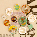 Prima - Lady Bird - Wood Embellishments - Buttons