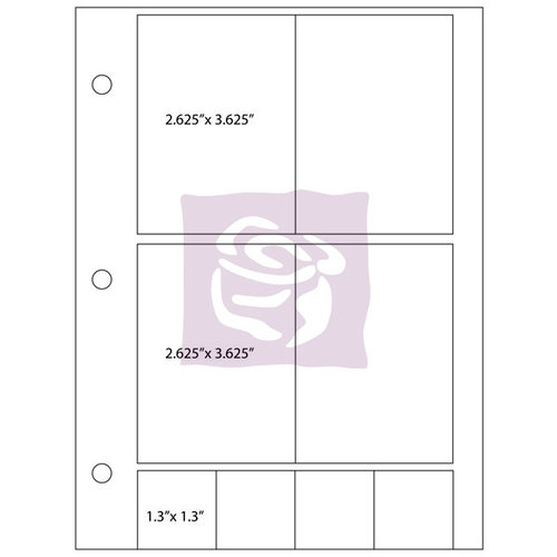 Prima - Photo Sleeve Refill - 7.5 x 9.5 - 6 Pack