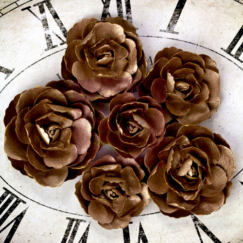 Prima - Sunrise Sunset Collection - Paper Roses - Gold