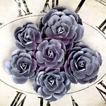 Prima - Sunrise Sunset Collection - Paper Roses - Silver