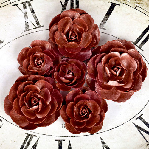 Prima - Sunrise Sunset Collection - Paper Roses - Copper