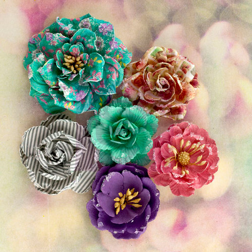 Prima - Hello Pastel Collection - Flower Embellishments - Pastel Roses