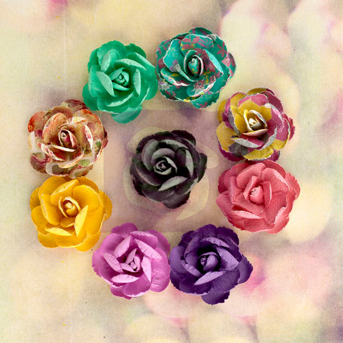Prima - Hello Pastel Collection - Flower Embellishments - Mulberry Flowers - Multi
