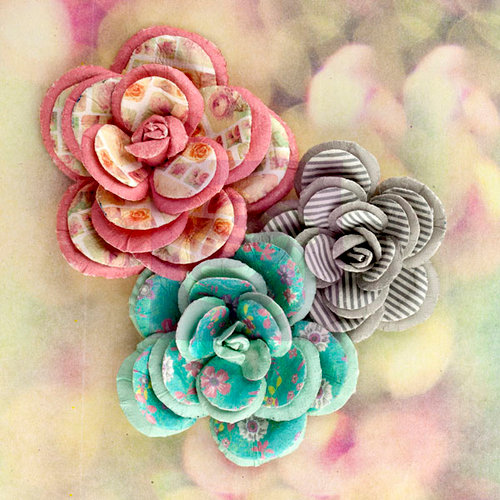Prima - Hello Pastel Collection - Flower Embellishments - Large Flowers