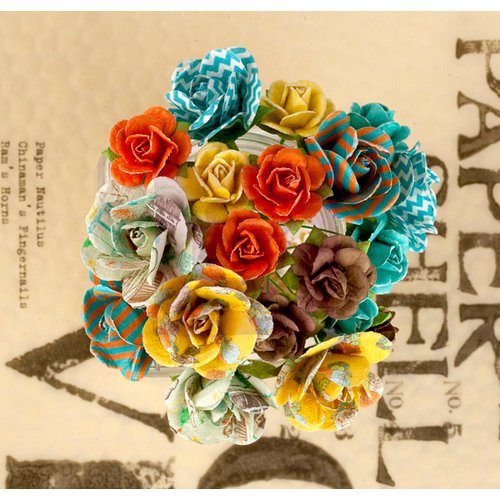 Prima - Lady Bird Collection - Flower Embellishments - Mini Rose Stems