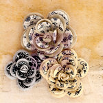 Prima - Engraver Collection - Flower Embellishments - Large Flowers