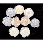Prima - Frost Collection - Flower Embellishments - Sow Drop Roses