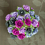 Prima - Mini Sachet Collection - Flower Embellishments - Plum