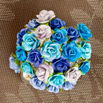 Prima - Mini Sachet Collection - Flower Embellishments - Lagoon