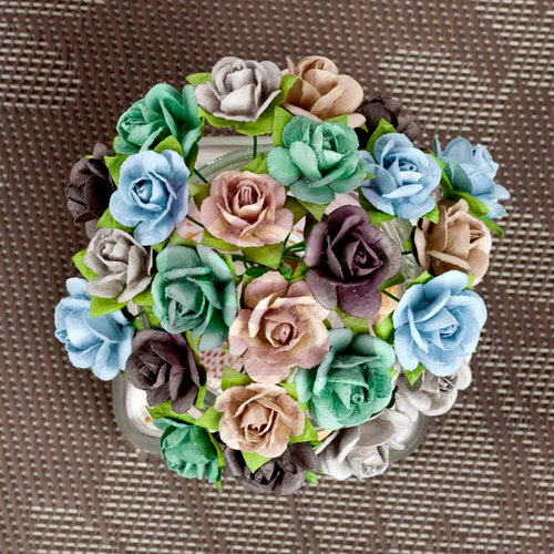 Prima - Mini Sachet Collection - Flower Embellishments - Lakeside