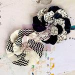 Prima - Ascot Park Collection - Flower Embellishments - Black Tie