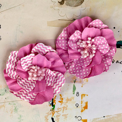 Prima - Ascot Park Collection - Flower Embellishments - Carnation
